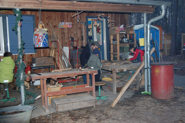 Blick auf die Werkstatt