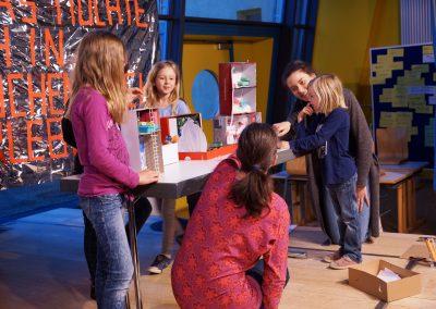 Auch aus dem Kinderworkshop durften die jungen Visionäre ihre Ideen vorstellen